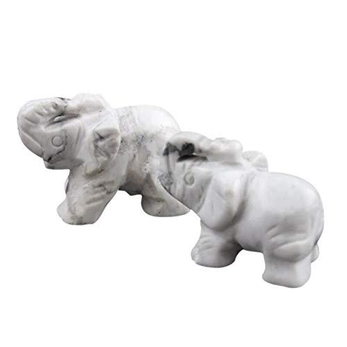 YUXIwang Pulsera para el hogar, adornos de escritorio, miniaturas, objetos de la suerte, ópalo, aventurina, obsidiana, cristal, elefantes de jade (color: D)