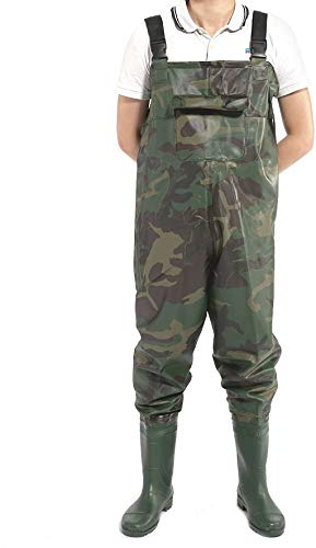 Hamimelon Fishing Waders Waterproof Overall Chest Hunting with Wading Boots (X-Large)