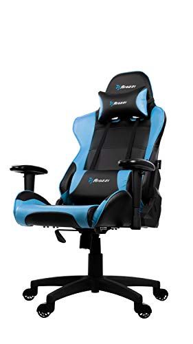 Arozzi Verona V2 Advanced Racing Style Gaming Chair with High Backrest, Recliner, Swivel, Tilt, Rocker and Seat Height Adjustment, Lumbar and Headrest Pillows Included, Blue Accessories chairs Computer Dining Features Game Home Kitchen Video