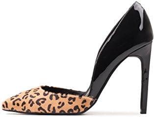 Jeffrey Campbell Avenida Beige High quality new Cheetah Black Stil Patent D'Orsay Luxury