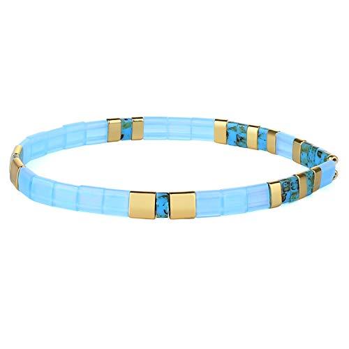 KANYEE Bracelets élastique pour Femme Bracelets D'amitié Bracelets Perlés Tila Bracelets Breloques Mode De Manchette pour Cadeaux d'anniversaire – 8L