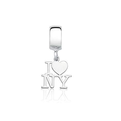 Berloque I Love New York Eu amo Nova York Prata 925