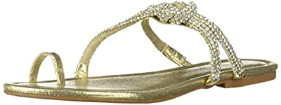 Jessica Simpson Women's KLANCY Sandal, Gold (Purple Orange 711) 7 M US