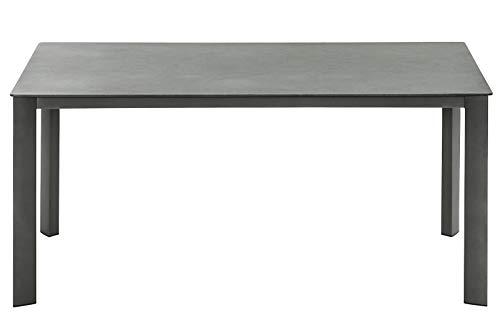 Dehner Gartentisch Nancy,mit Antihaft-Beschichtung, 160 x 75 x 90 cm,Aluminium/Glas,grau