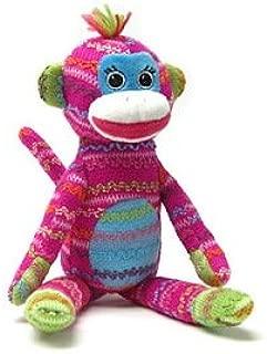 Mary Meyer Knit Picks Sock Monkey Pink 13