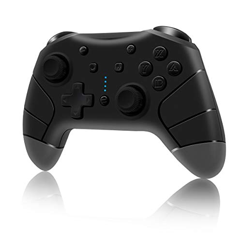 Clevo Controller für Switch, Switch Pro Controller mit Dual Motors Vibration Motion und Turbo Funktionen, Gamepad mit 6-Gyro Achse Joypad Joystick für Switch