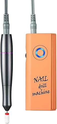 Sgxiyue Máquina de Taladro de uñas eléctrica portátil 30000RPM para Gel de acrílico uñas Naturales de manicura Recargable Pedicura de Pulido de Pulido de Herramientas de salón de salón o hogar