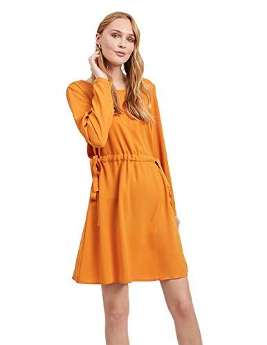 Vila Vestido Mujer Visarina L/S Tie Golden 38 Naranja