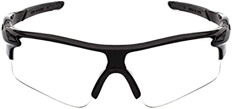Sekishun-cho Outdoor Sports Athlete's Sunglasses for Cycling Fishing Golf,100% UV Protection (Clear)