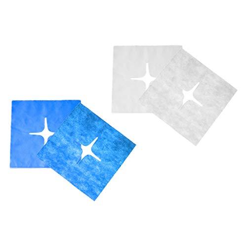 Harilla 200 Paquetes Desechables de La Toalla de La Almohada de La Tabla Del Agujero de La Cara para El Masaje Blanco + Azul