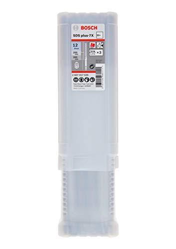 Bosch Professional 2607017535 Juego de 30 Brocas SDS plus-7X (para hormigón y mampostería, 12 x 200 x 265 mm, Accesorios para Martillo perforador)