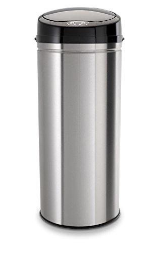 *Echtwerk EW-AE-0230 Edelstahl Abfalleimer 42L mit IR Sensor, Inox Brushed*