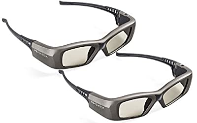 2X Hi-SHOCK Oxid Diamond | Dual Play RF/BT Pro 3D Glasses for HDR/FullHD / 4k 3DTV, RF 3D projectors comp. with SSG-3570CR / TDG-BT500A / AN3DG35 / TY-ER3D6ME / FPT-AG04 / AG-S350 / FPS3D08
