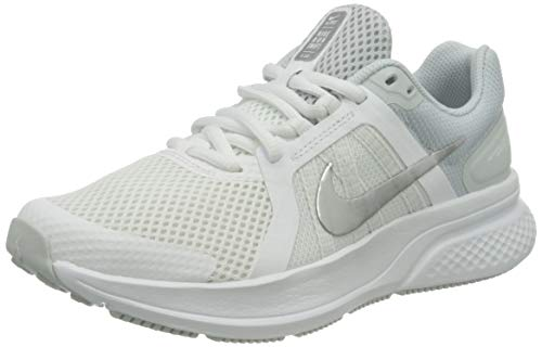 Nike Damen Run Swift 2 Running Shoe, White/Metallic Silver-Pure Platinum, 38 EU