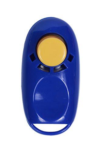 Button Clicker - Clickertraining für Hunde, Katzen und Pferde (blau)