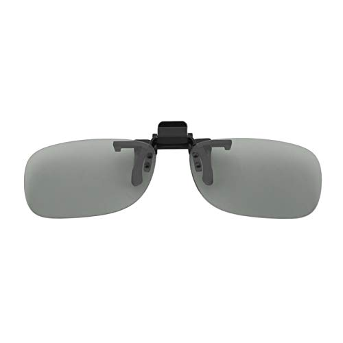 Kongqiabona-UK Clip On Passive Circular Polarized 3D Glasses Clip for LG 3D TV Cinema Film