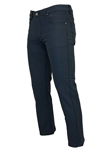 Kayden K Checker Textued Slim Fit Stretch Pants Navy 36x32