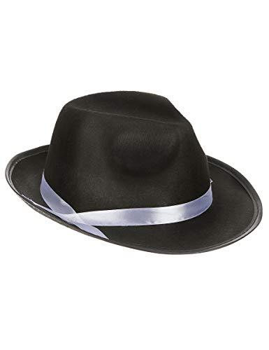 DEGUISE TOI - Chapeau Gangster Noir Adulte - Taille Unique