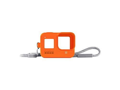 GoPro Sleeve + Lanyard for Hero8 Black - Hyper Orange (Official Accessory) AJSST-004 & Amazon Basics GoPro Carrying Case - Small