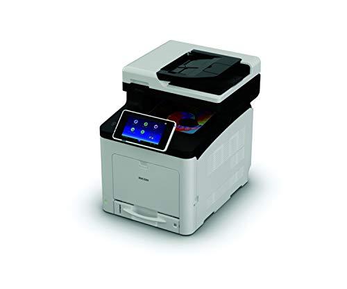 Ricoh SP C360SFNw LED 30 ppm 1200 x 1200 dpi A4 WiFi - Impresora multifunción (LED, Impresión a Color, 1200 x 1200 dpi, A4, Impresión Directa, Negro, Gris)
