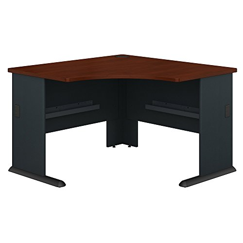 Bush Business Furniture WC90466A Series A 48W Corner Desk in Hansen Cherry and Galaxy