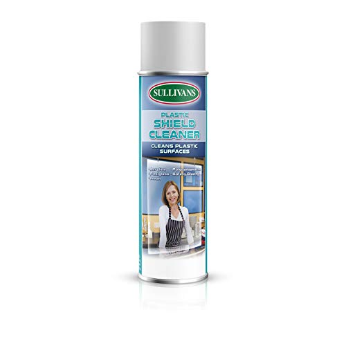 Sullivans Plastic Shield Cleaner, 38441, 19 oz can, for Acrylics, Polycarbonates, Plexiglass, and More