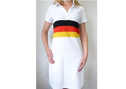 IDM Robe polo, robe d'été. M Couleur de base : blanc avec noir, rouge, jaune
