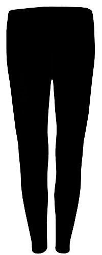 wobera Angora Lange Unterhose mit Wolle und Seide (small, schwarz)