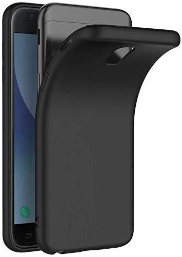COPHONE Cover per Samsung Galaxy J3 2017 J330, Cover Galaxy J3 2017 Nero Silicone Case Molle di TPU Sottile Custodia per Samsung J3 2017