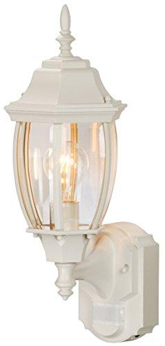 Heath Zenith HZ-4192-WH Six-Sided Die-Cast Aluminum Lantern, White with Beveled Glass