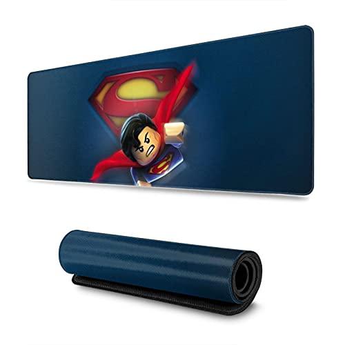 Superman Le-go Yo-daBy Drpeur Game Mouse Pad antideslizante base de goma para teclado de ordenador, alfombrilla de ratón de 31,5 x 30 cm