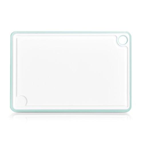 Zeller–Tabla de cortar, plástico, plástico, blanco/menta, 30 x 20.5 x 0.85 cm