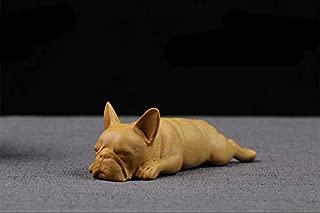 bulldog wood carving