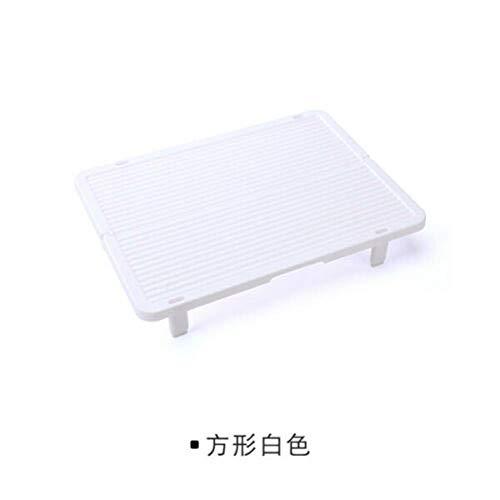 Antislip Dumplings Opbergrek Plastic Kan op elkaar worden geplaatst Broodjes Bakgereedschap Keukenaccessoires Gebakhouder Dienblad Koken, Vierkant wit