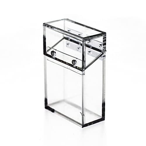 Caja De Cigarrillos Para Hombres Acrílico Tenedor Transparente Caja De Cigarrillos Caja De Visualización De Cigarrillos Caja De Almacenamiento De Paquete Encendedor Portátil, Tiene 14 Cigarrillos