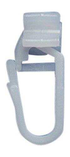 rewagi – 100 Stück Hochwertige Faltengleiter X Gleiter für Gardinenschienen für 6 mm Laufbreite - Farbe Weiss