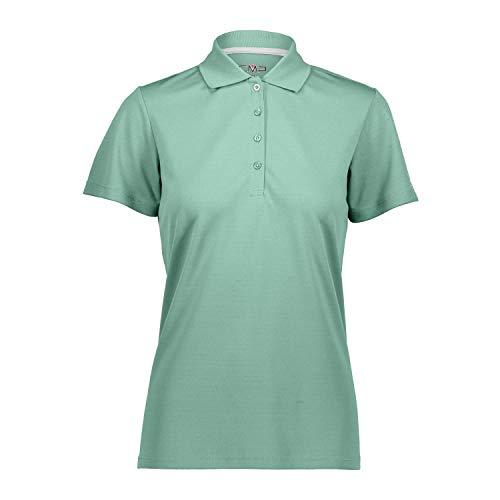 CMP – F.LLI Campagnolo Damen Atmungsaktives Poloshirt mit Komfort Fit T Shirt & Polo, Aquamint, D44