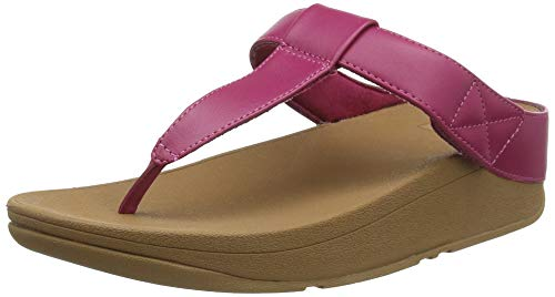 FitFlop Mina Adjustable Toe Post-Leather, Sandalias de Punta Descubierta para Mujer, Marrón (Ss20 Vivacious 058), 41 EU