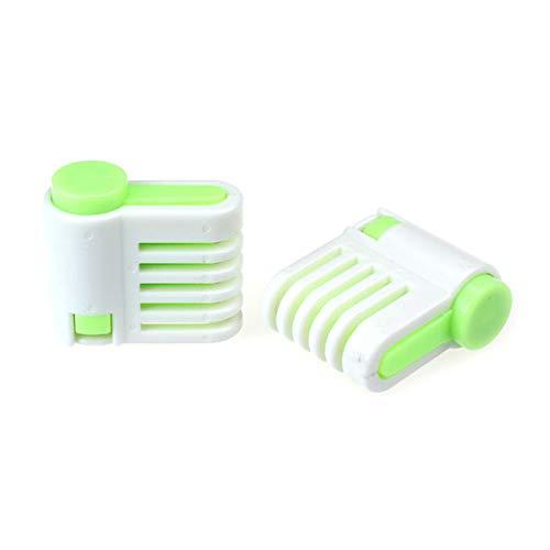 SUJING DIY Kitchen Tool Cake Bread Leveler 5 Layer Slicer Cutting Fixator,Cake slicer (Green)