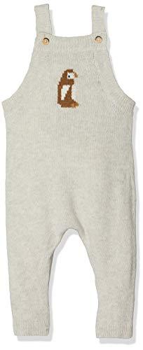 Petit Bateau Baby-Jungen Salopette Longue_4966801 Latzhose, Grau (Montelimar Chine 01), 68 (Herstellergröße: 6M/67cm)