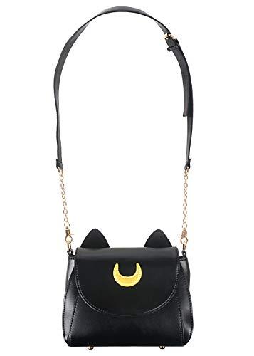 Sailor M. Handtasche aus PU-Leder mit Katzenohren | Farbe: Schwarz