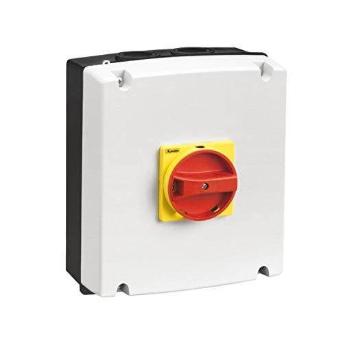 Caja vacía con mando de color rojo y amarillo, IP65, para GA063A-GA100A GA080D, 12,1 x 17,5 x 22 centímetros, color blanco (Referencia: GAZ2)