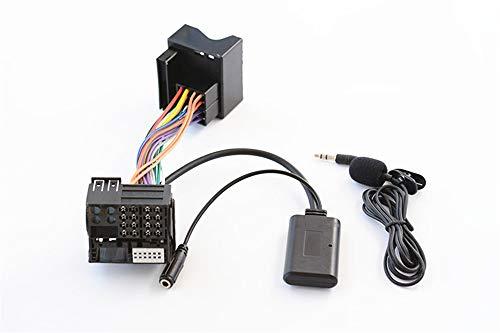 Adaptateur d'appel Mains Libres Bluetooth sans Fil pour Peugeot 307 407 508 Citroën C5 C6 RD4 Blaupunkt VDO Bosch Radio CD Stéréo AUX Interface de Musique