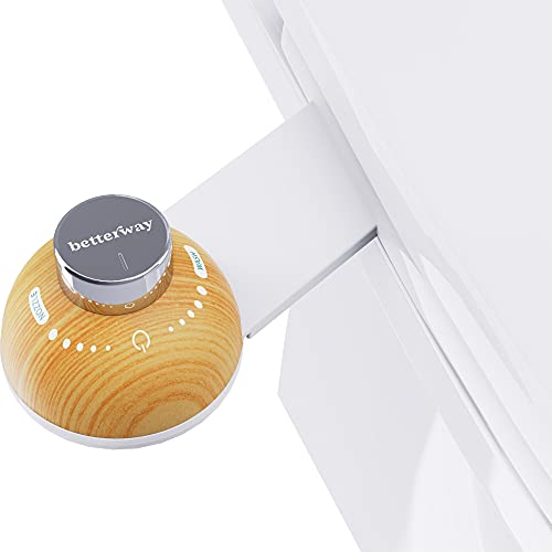 Betterway Bidet Toilet Seat Attachment - Non Electric Self Cleaning Fresh Water Sprayer & Pressure Control for Max Comfort - Ultra Slim - Digital Install Guide, All Parts & Bumpers Included (Bamboo)