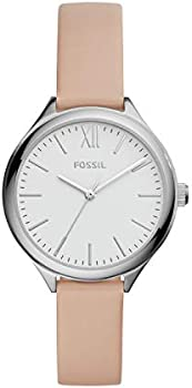 Suitor Three-Hand Pink Leather Watch