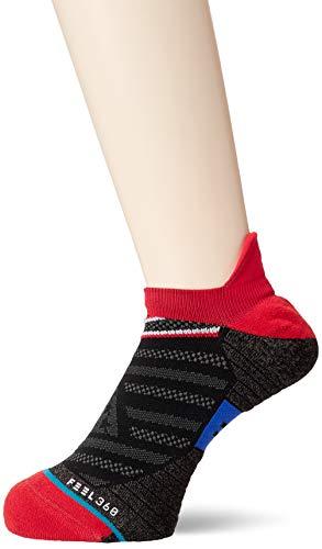 Stance Mens Run Slanted Tab Socks M248A19SLT Red