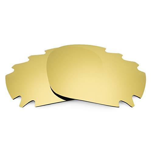 Revant Ersatzgläser für Oakley Jawbone Vented, Nichtpolarisiert, Gold MirrorShield