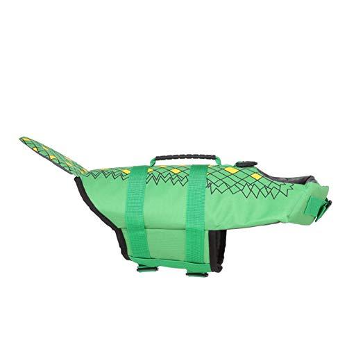 WPCASE Veste Lifesaver pour Chien Gilet Sauvetage Chien Pet Life Jacket Dog Lifejacket pour Natation Surf Bateau De Chasse 02green,L