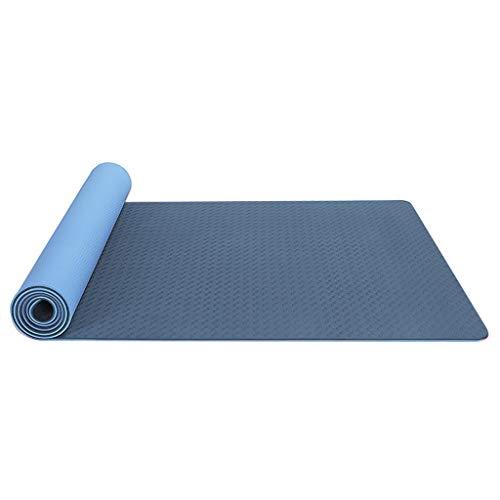 IFOUDNYOU Yogamatte rutschfeste 6MM Dünn Zweifarbige Umweltschutz Pro Fitness-Trainingsmatte TPE Hochwertig Schadstofffrei