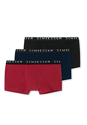 Schiesser Heren Boxershorts verschillende kleuren ondergoed, verpakking van 3